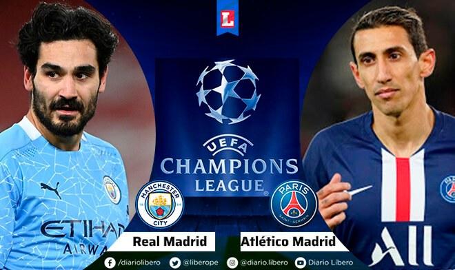 Manchester City vs PSG EN VIVO Semifinal Champions League 2021