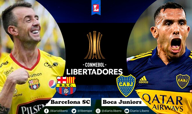 Boca Juniors vs Barcelona SC Libertadores