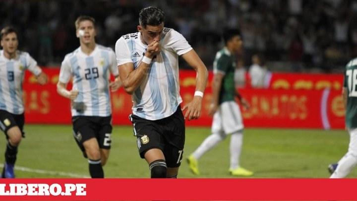 af5779ee6a4ea Argentina venció 2-0 a México en amistoso internacional por fecha FIFA 2018   Resumen