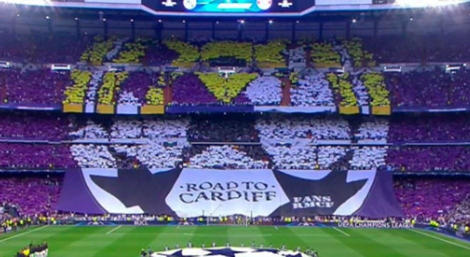 Real Madrid vs. Bayern Múnich: espectacular mural en el Estadio Santiago Bernabéu por Champions League [FOTO]