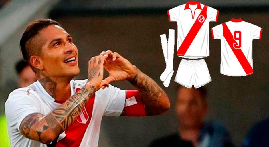 Paolo Guerrero: Inter de Porto Alegre plantea relanzar camiseta de 1954 parecido a Perú │ FOTOS