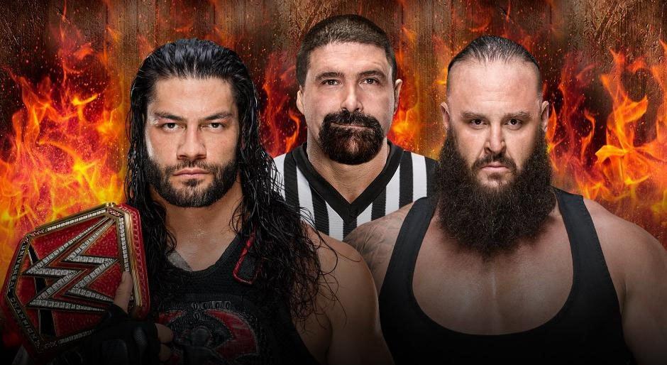 WWE. Campeón Universal Roman Reigns vs. Braun Strowman (Lucha en Celda Infernal)