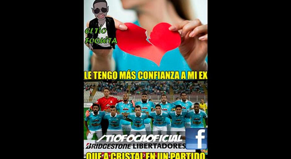 Sporting Cristal, víctima de memes tras goleada ante Santa Fe en la Copa Libertadores