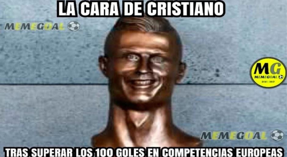 Memes 'vacilan' a Cristiano Ronaldo por sus goles en Champions League. Memegoal.
