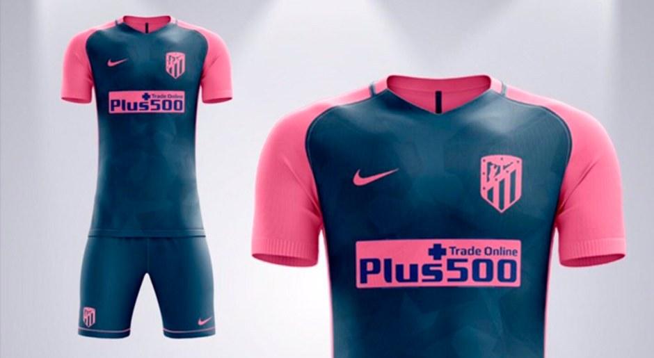 Atlético Madrid utilizaría esta remera como la segunda equipación de cara a la próxima temporada