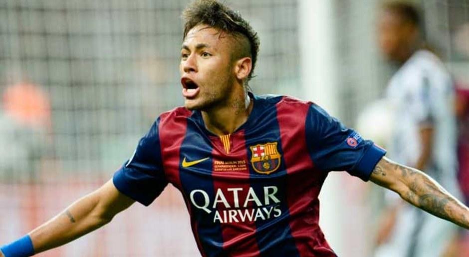 Neymar. El carioca ganó en el 2015 la Champions, Mundial de Clubes y Liga. EFE