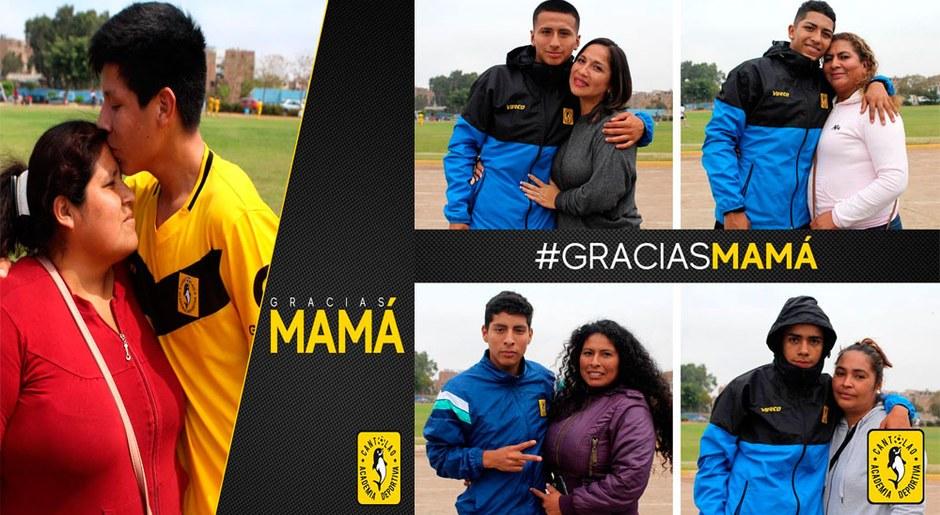 El sacrificio de cada madre se ve reflejado en la cantera del Cantolao. Emotivas fotos para el equipo.
