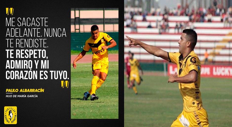 El volante juego y quite, Paulo Albarracín fue formado en la academia, hoy es uno de los máximos responsables del buen momento.
