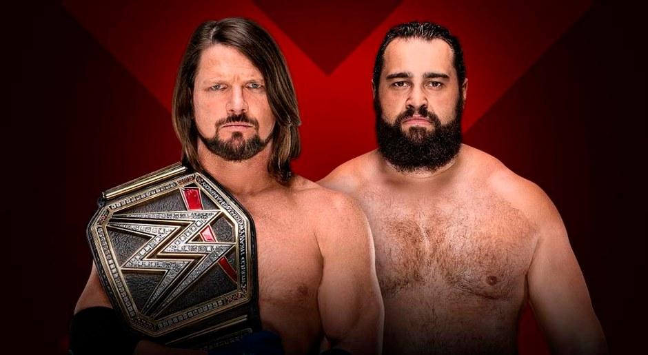En WWE Extreme Rules 2018, AJ Styles vs Rusev por el Campeonato Mundial de la WWE. Foto: WWE