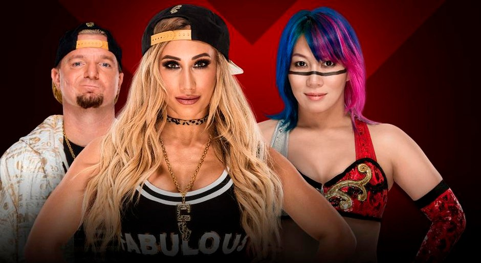 En WWE Extreme Rules 2018, Carmella vs Asuka por el Campeonato Femenino de SmackDown. Foto: WWE