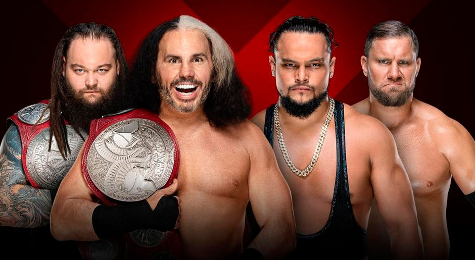 En WWE Extreme Rules 2018, 'Woken' Matt Hardy & Bray Wyatt vs. Equipo B por el Campeonato en parejas de Raw. Foto: WWE