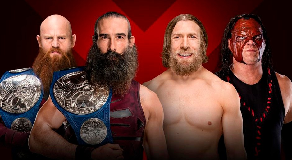 En WWE Extreme Rules 2018, Los Bludgeon Brothers vs Team Hell No por el Campeonato en parejas de SmackDown. Foto: WWE