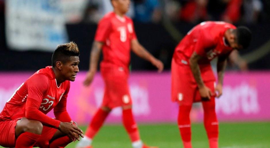 Foto: EFE. La selección peruana sufrió una dura derrota ante Alemania.