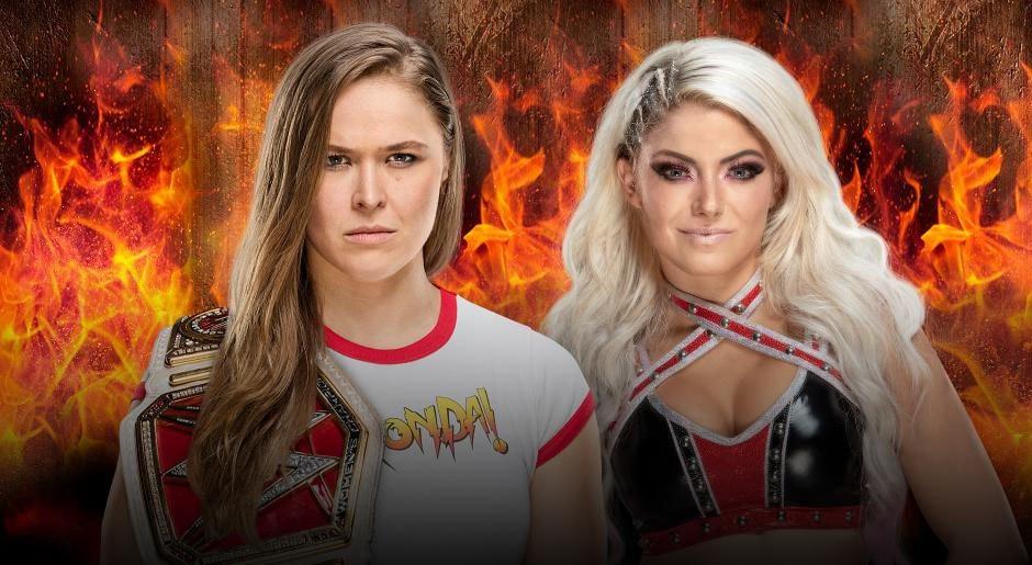 WWE. Campeona Femenil de Raw Ronda Rousey vs. Alexa Bliss