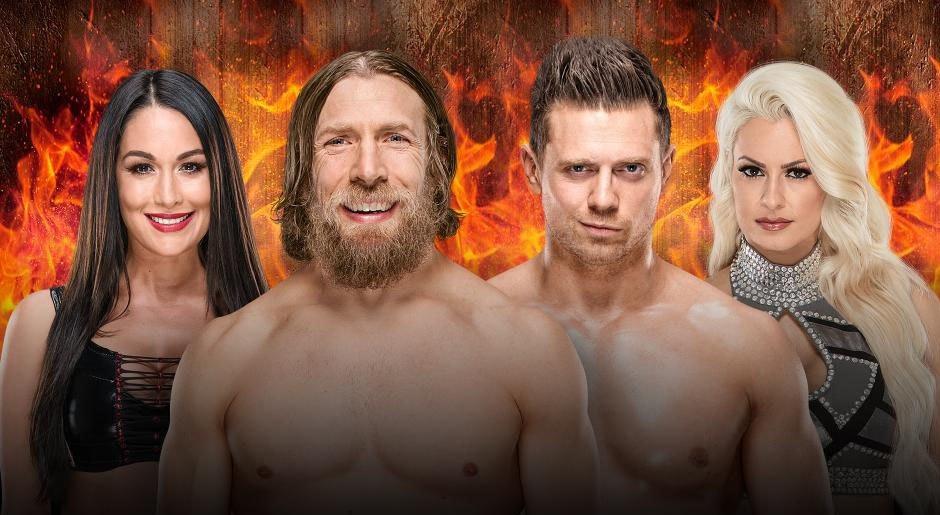 WWE. Daniel Bryan & Brie Bella vs. The Miz & Maryse