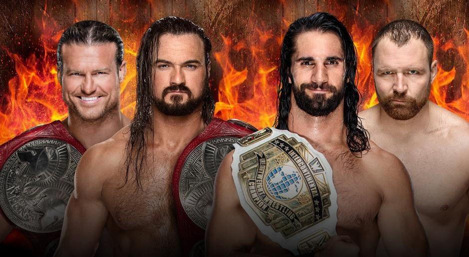 WWE. Campeonato de Parejas de Raw Dolph Ziggler & Drew McIntrye vs. Seth Rollins & Dean Ambrose
