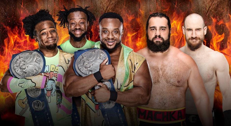 WWE. Campeones de Parejas de Raw The New Day vs. Rusev & Aiden English