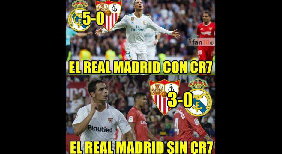 Real Madrid, víctima de memes tras caer 3-0 ante Sevilla