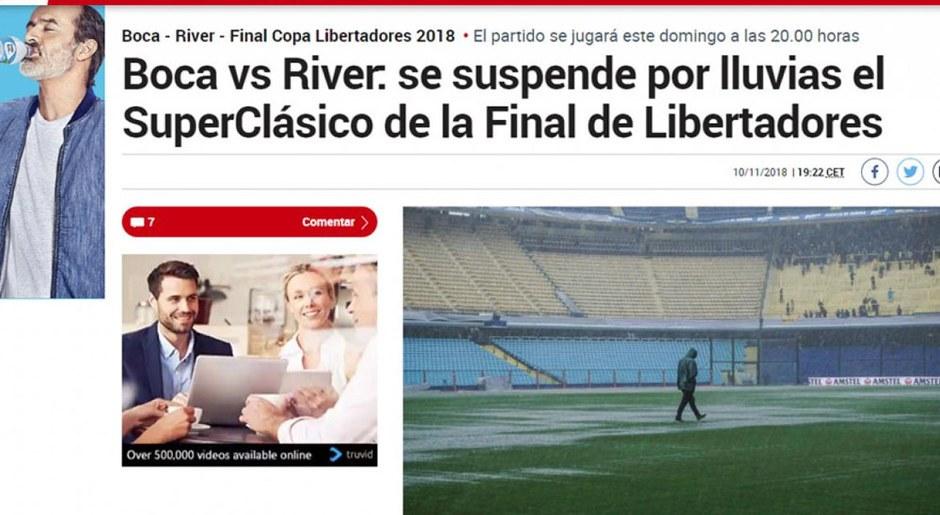 Boca vs River: así informaron medios internacionales la suspensión de la final de Libertadores