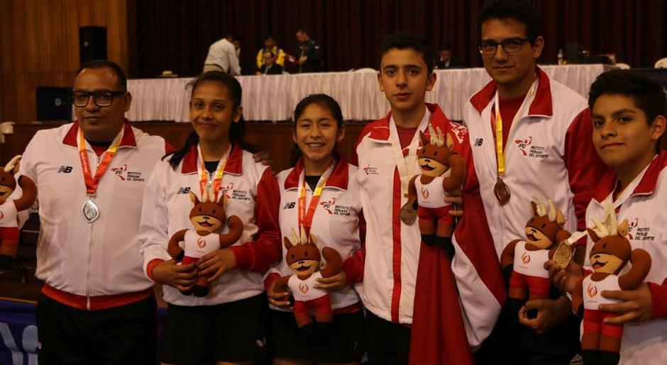Selección Peruana en la categoría tenis mesa